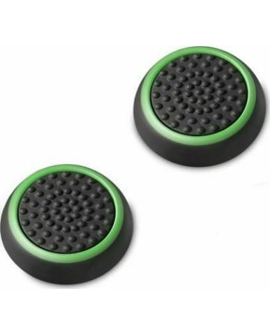 Σιλικόνης Κάλυμμα Λαβής Αντίχειρα για Αναλογικό Χειριστήριο PS4/PS3/PS2/XBOX ONE/XBOX 360/SWITCH - Μαύρο Πράσινο