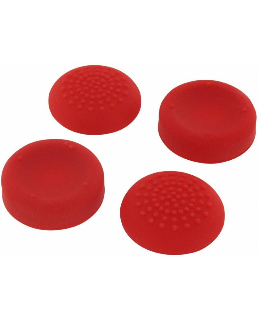 SILICONE THUMB GRIPS CONCAVE & CONVEX ASSECURE ΓΙΑ ΧΕΙΡΙΣΤΗΡΙΑ PS4 - ΚΟΚΚΙΝΟ