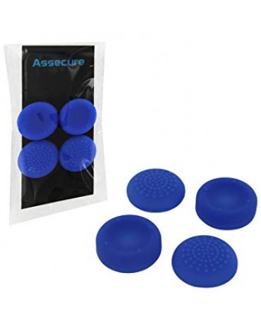 SILICONE THUMB GRIPS CONCAVE & CONVEX ASSECURE ΓΙΑ ΧΕΙΡΙΣΤΗΡΙΑ PS4 - ΜΠΛΕ