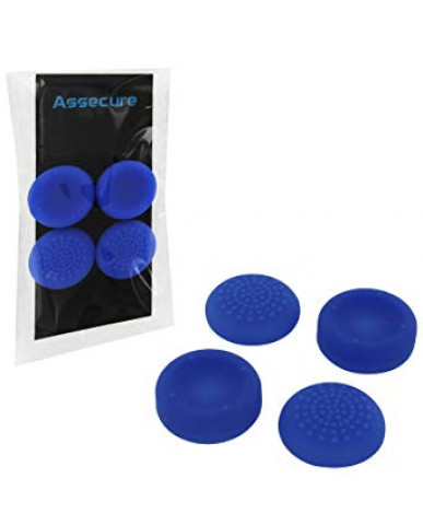 SILICONE THUMB GRIPS CONCAVE & CONVEX ASSECURE ΓΙΑ ΧΕΙΡΙΣΤΗΡΙΑ PS4/PS3/PS2/XBOX ONE/XBOX 360/SWITCH - ΜΠΛΕ