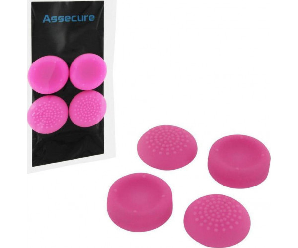 SILICONE THUMB GRIPS CONCAVE & CONVEX ASSECURE ΓΙΑ ΧΕΙΡΙΣΤΗΡΙΑ PS4 - ΡΟΖ