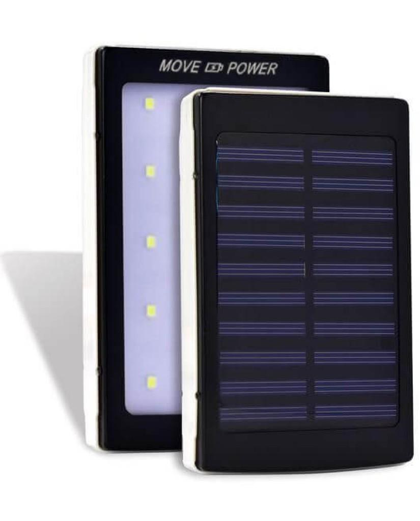 Solar Charger Led Flashlight - Ηλιακός Φορτιστής Υψηλής Ισχύος 20000MAH με φακό LED - Μαύρο