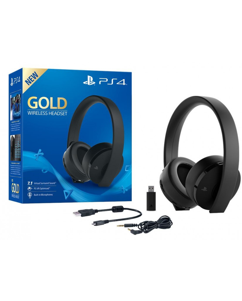 SONY PS4 WIRELESS HEADSET 7.1 GOLD VERSION - BLACK EDITION