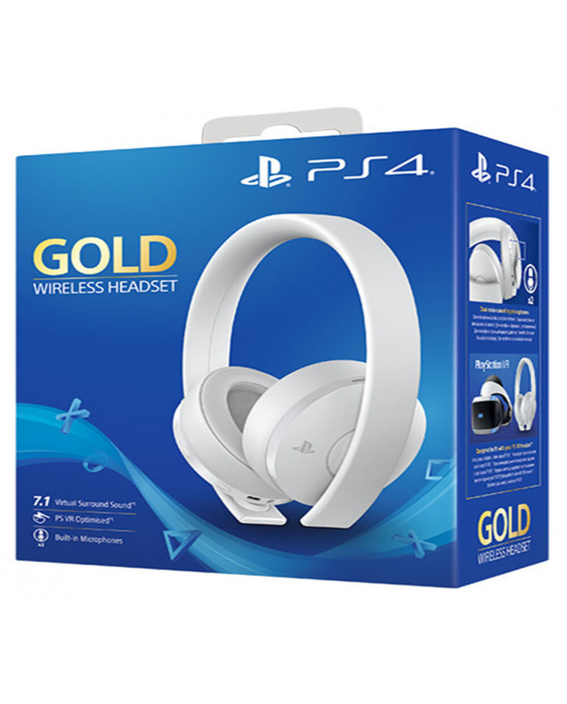 SONY PS4 WIRELESS HEADSET 7.1 GOLD VERSION - WHITE EDITION