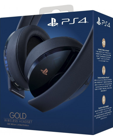 SONY PS4 GOLD WIRELESS HEADSET 500 MILLION LIMITED EDITION 7.1 – ΜΑΥΡΟ