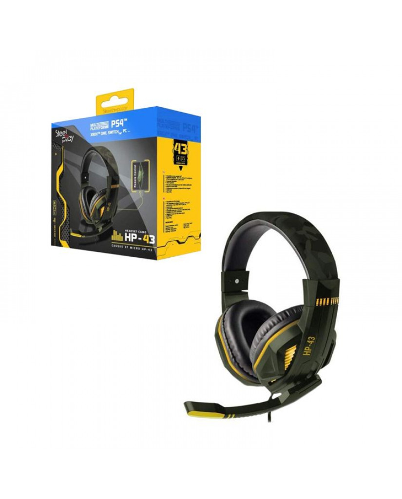 Steelplay HP43 Wired Gaming Headset - PS4 / Xbox One / Switch / PC – Πράσινο Παραλλαγής