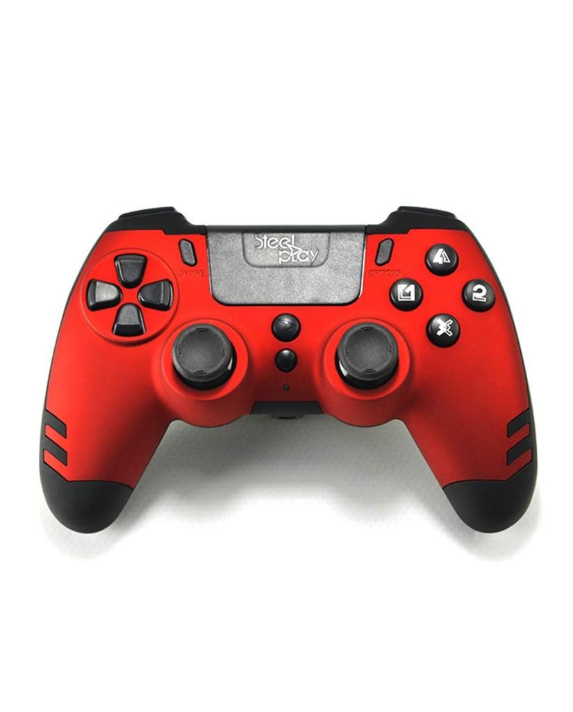 Steelplay Metal Tech Wired Controller - Χειριστήριο PS4/PS3/PC - Κόκκινο