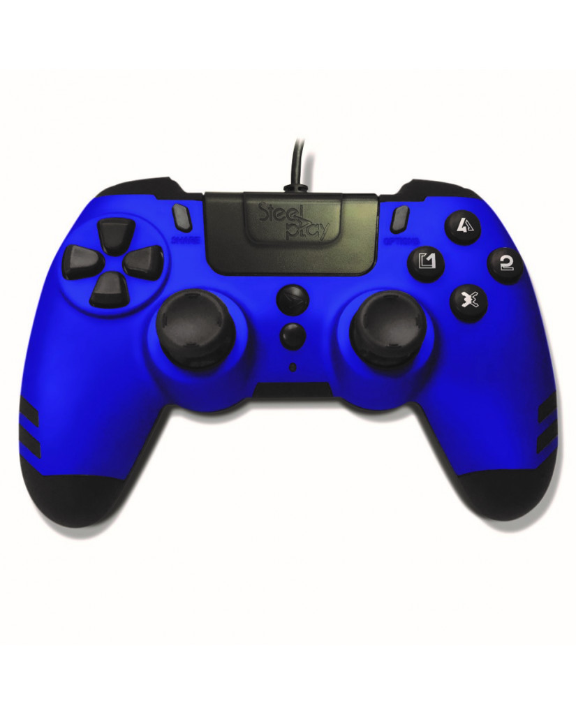 Steelplay Metal Tech Wired Controller - Χειριστήριο PS4/PS3/PC - Μπλε