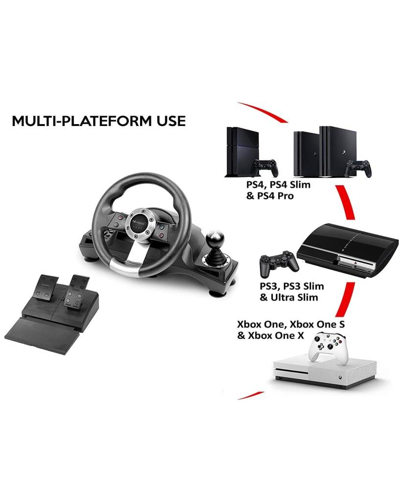 SUBSONIC DRIVE PRO SPORT RACING WHEEL - ΤΙΜΟΝΙΕΡΑ ΜΕ ΠΕΤΑΛΙΑ ΚΑΙ ΜΟΧΛΟ ΤΑΧΥΤΗΤΩΝ - PS4, XBOX ONE, PS3, PC