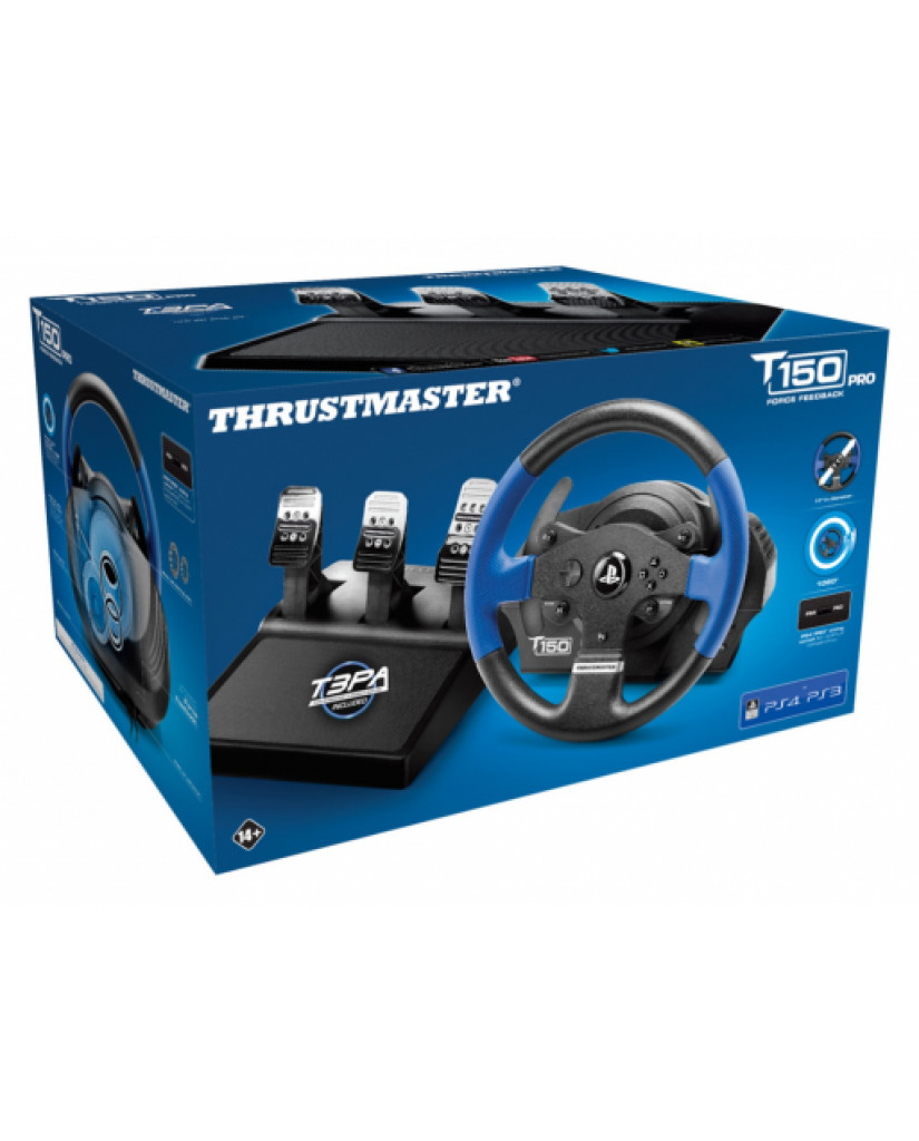 THRUSTMASTER T150 RS PRO FORCE FEEDBACK WHEEL & PEDALS - ΤΙΜΟΝΙΕΡΑ ΓΙΑ PS4/PS3/PC