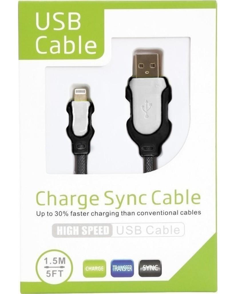 OEM USB TO LIGHTNING CABLE – ΚΑΛΩΔΙΟ ΔΕΔΟΜΕΝΩΝ ΓΙΑ APPLE - ΛΕΥΚΟ & ΜΑΥΡΟ