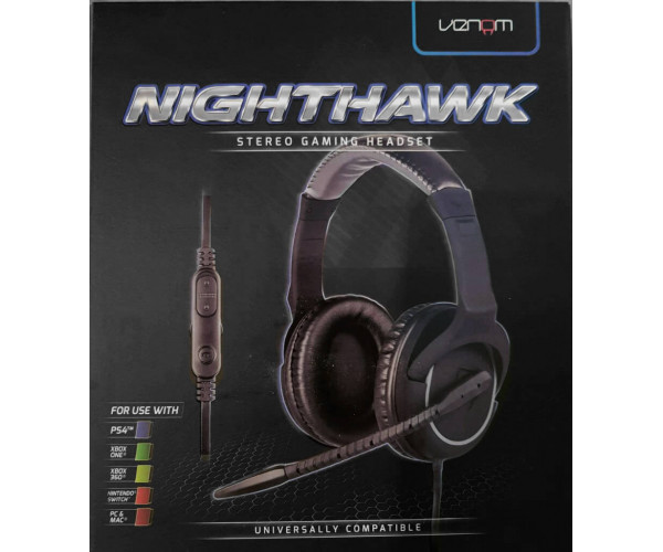 Ενσύρματα Στερεοφωνικά Gaming Ακουστικά Venom Nighthawk Headset για PS4 / Xbox One / Xbox 360 / PSP / PC / Mac / Tablet