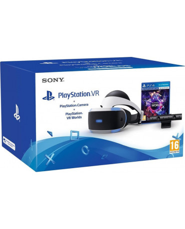 SONY PLAYSTATION 4 VR HEADSET + CAMERA V2 + VR WORLDS