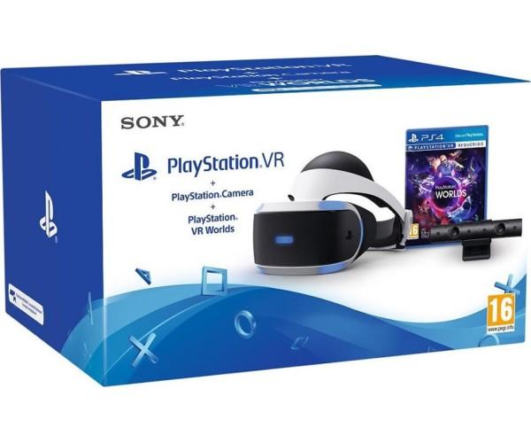 SONY PLAYSTATION 4 VR HEADSET + CAMERA V2 + VR WORLDS