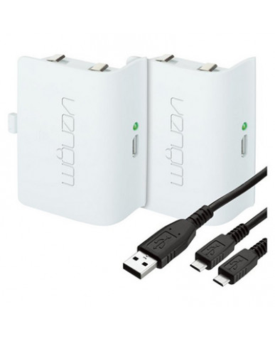VENOM RECHARGEABLE BATTERY TWIN PACK - ΜΠΑΤΑΡΙΕΣ ΦΟΡΤΙΣΗΣ ΓΙΑ ΧΕΙΡΙΣΤΗΡΙΟ XBOX ONE - ΛΕΥΚΟ