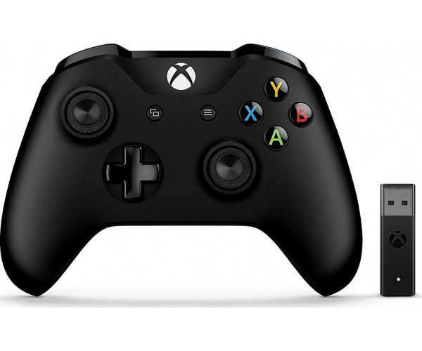 Microsoft Xbox One Wireless Controller για Windows 10 + Adapter 4N7-00002 - Μαύρο