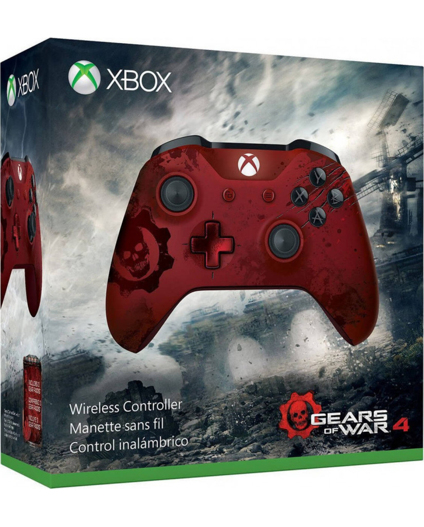 Microsoft Xbox One Wireless Controller - Gears of War 4 - Crimson Omen