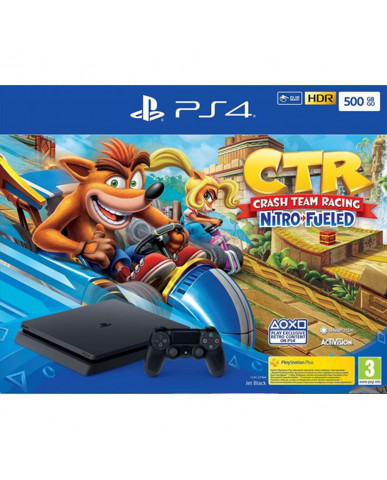 Sony PlayStation 4 - 500GB Slim & Crash Team Racing Nitro-Fueled