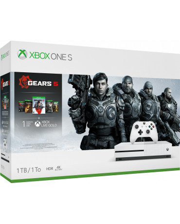 MICROSOFT XBOX ONE S ΚΟΝΣΟΛΑ 1TB GEARS OF WAR 5 CONSOLE BUNDLE ΠΕΡΙΛΑΜΒΑΝΕΙ GEARS OF WAR ULTIMATE 2, 3, 4 DLC - ΛΕΥΚΟ