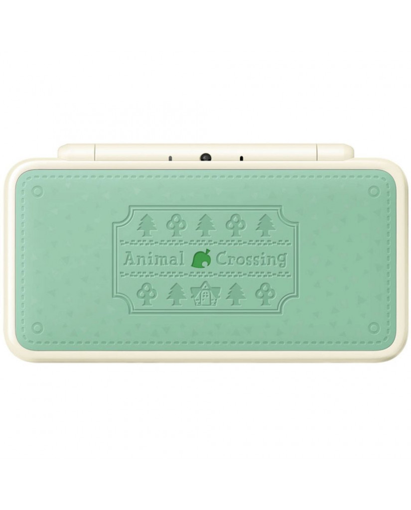 NEW NINTENDO 2DS XL WHITE & SEA GREEN + ANIMAL CROSSING NEW LEAF