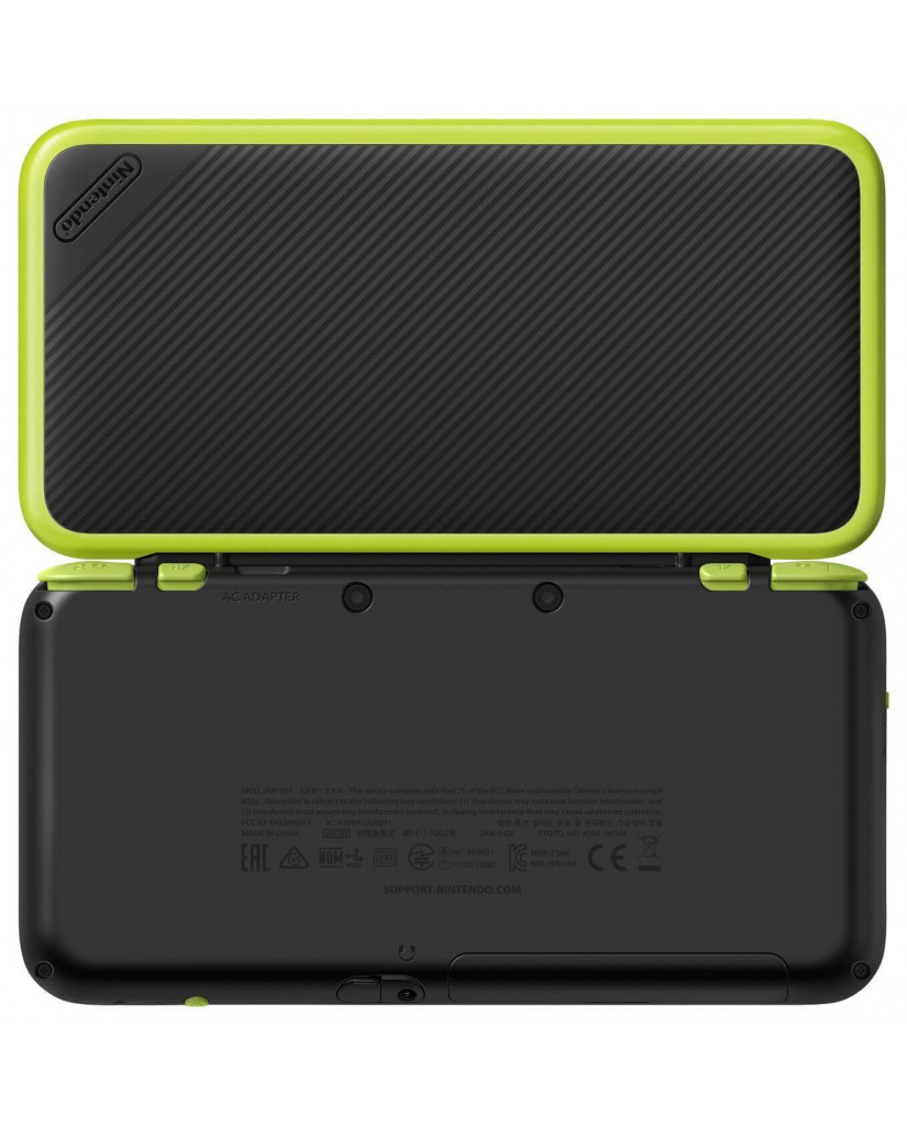 NEW NINTENDO 2DS XL BLACK LIME GREEN + MARIO KART 7