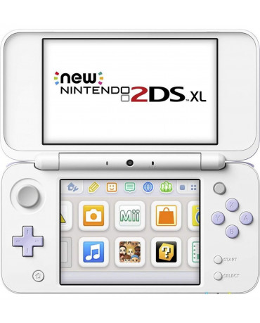 NEW NINTENDO 2DS XL WHITE & LAVENDER + TOMODACHI LIFE