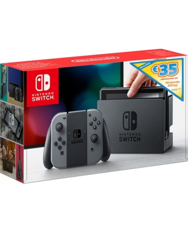 NINTENDO SWITCH CONSOLE GREY JOY-CON - 32GB + DOWNLOAD CODE 35€