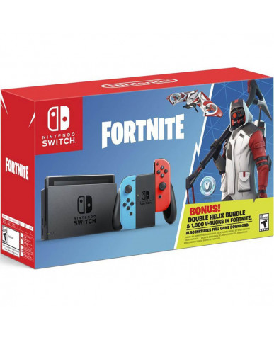 NINTENDO SWITCH CONSOLE RED/BLUE JOY-CON - FORTNITE DOUBLE HELIX BUNDLE