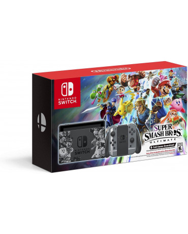 NINTENDO SWITCH CONSOLE GREY JOY-CON SUPER SMASH BROS. ULTIMATE EDITION