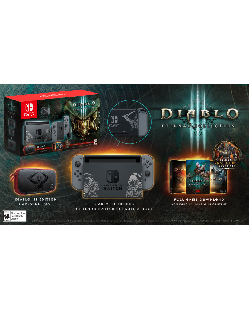 NINTENDO SWITCH CONSOLE GREY JOY-CON - DIABLO III LIMITED EDITION
