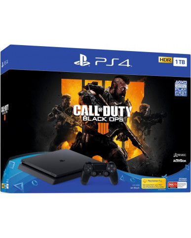 Sony PlayStation 4 - 1TB Slim Black + Call of Duty: Black Ops 4
