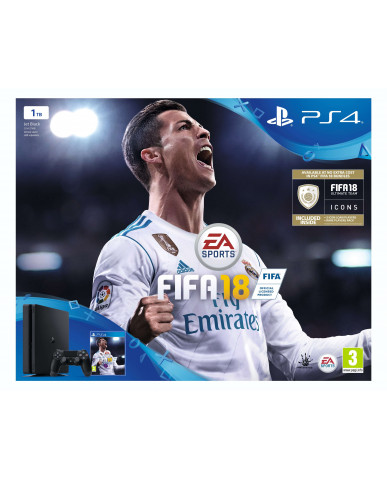 Sony PlayStation 4 - 1TB Slim + FIFA 18 Ultimate Team Icons + Δώρο Playstation Plus 14 Days
