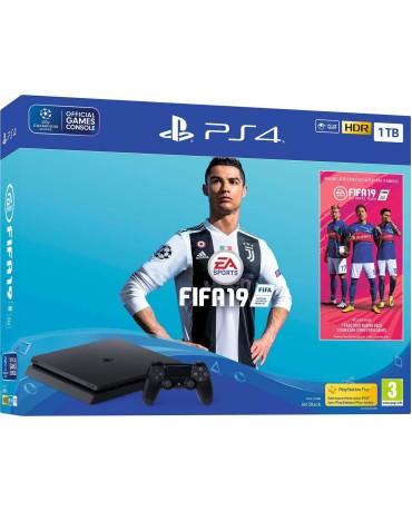 SONY PLAYSTATION 4 - 1TB SLIM BLACK + FIFA 19