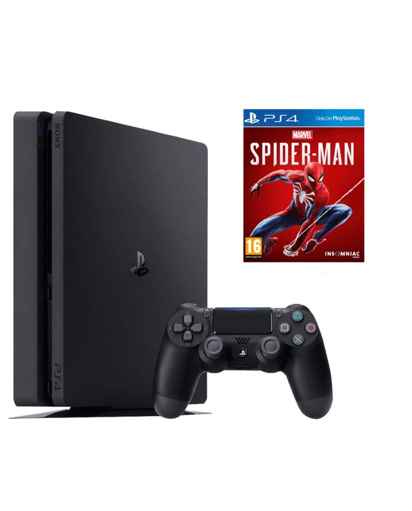 Sony PlayStation 4 - 1TB Slim Black + Marvel's Spider-Man