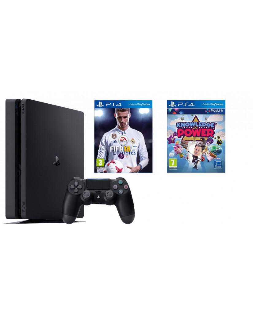 Sony PlayStation 4 - 1TB Slim + FIFA 18 Ultimate Team Icons + Δώρο Playstation Plus 14 Days + Δώρο Knowledge is Power