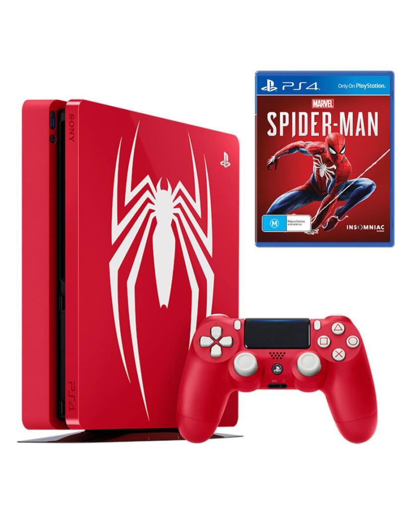 SONY PLAYSTATION 4 SLIM 1TB + MARVEL'S SPIDER-MAN LIMITED EDITION