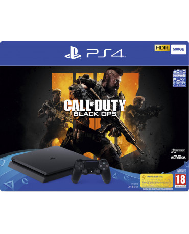 Sony PlayStation 4 - 500GB Slim Black + Call of Duty Black Ops 4