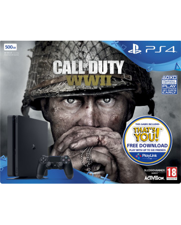 Sony PlayStation 4 - 500GB Slim + Call of Duty WWII + Δώρο Knowledge is Power