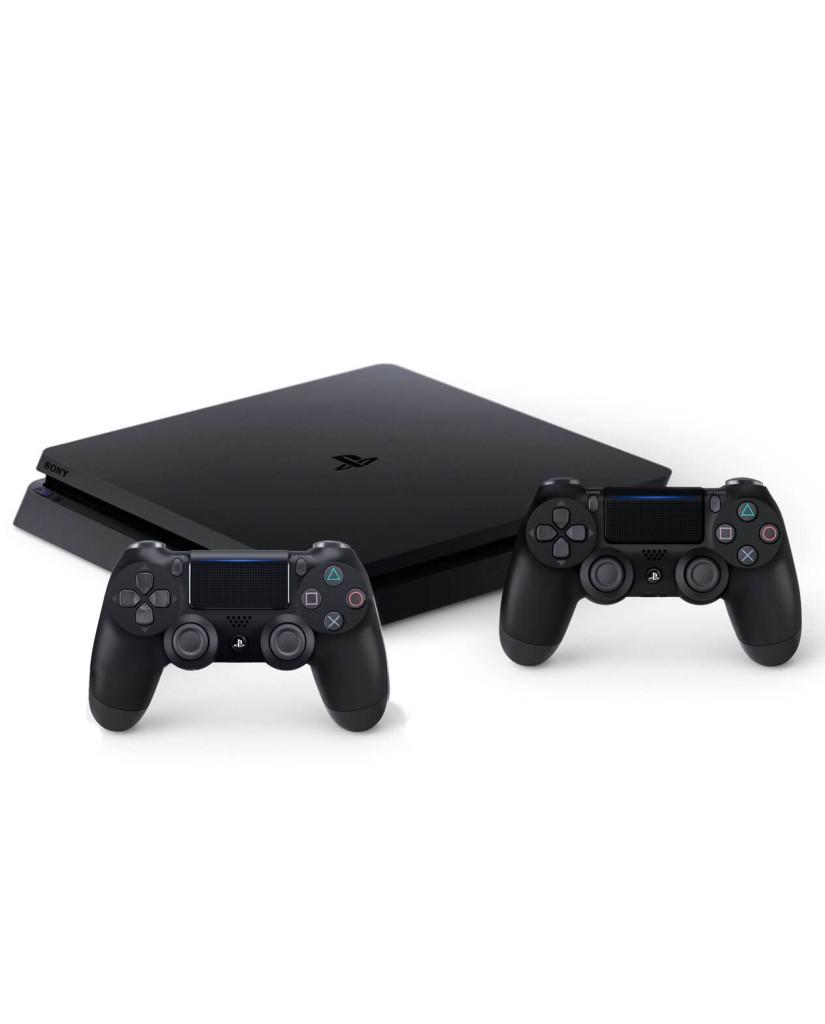 Sony PlayStation 4 - 500GB Slim Black + FIFA 18 Ultimate Team Icons + 2 Χειριστήρια DualShock 4