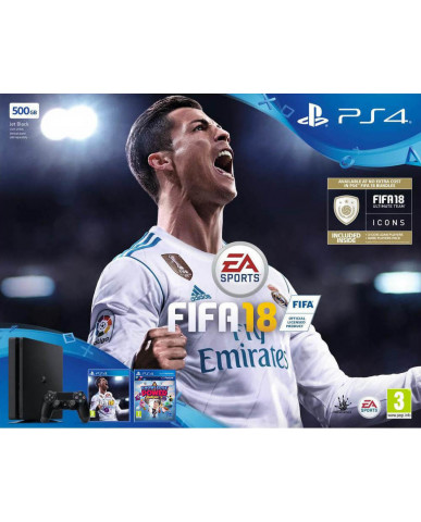 Sony PlayStation 4 - 500GB Slim + FIFA 18 Ultimate Team Icons + Δώρο Playstation Plus 14 Days + Δώρο Knowledge is Power