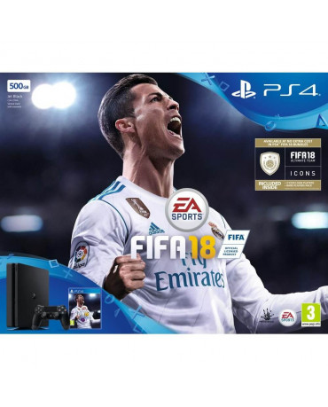 Sony PlayStation 4 - 500GB Slim + FIFA 18 Ultimate Team Icons + FIFA World Cup
