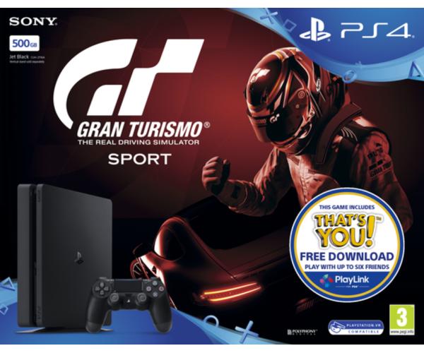 Sony PlayStation 4 - 500GB Slim & Gran Turismo Sport & ΔΩΡΟ ΘΗΚΗ ΣΙΛΙΚΟΝΗΣ PS4 ΧΕΙΡΙΣΤΗΡΙΟΥ