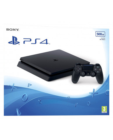 Sony PlayStation 4 - 500GB Slim Black Μεταχ.