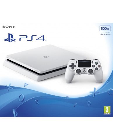 Sony PlayStation 4 - 500GB Slim Glasier White