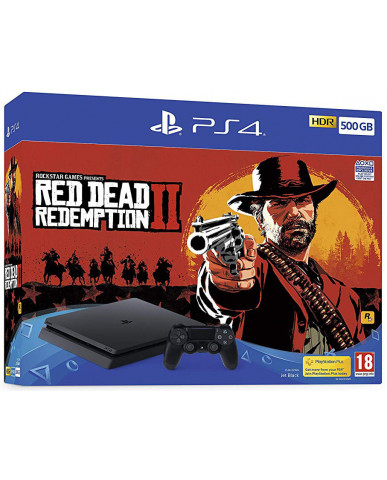 Sony PlayStation 4 - 500GB Slim + Red Dead Redemption 2