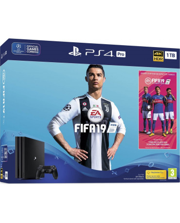SONY PLAYSTATION 4 PRO 1TB SLIM BLACK + FIFA 19