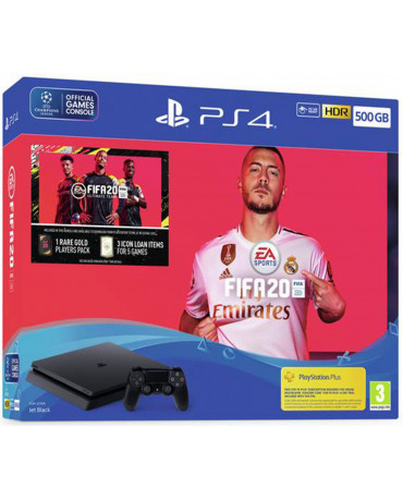 Sony PlayStation 4 - 500GB Slim + Fifa 20 + VOUCHER CODE + Δώρο Playstation Plus 14 Days