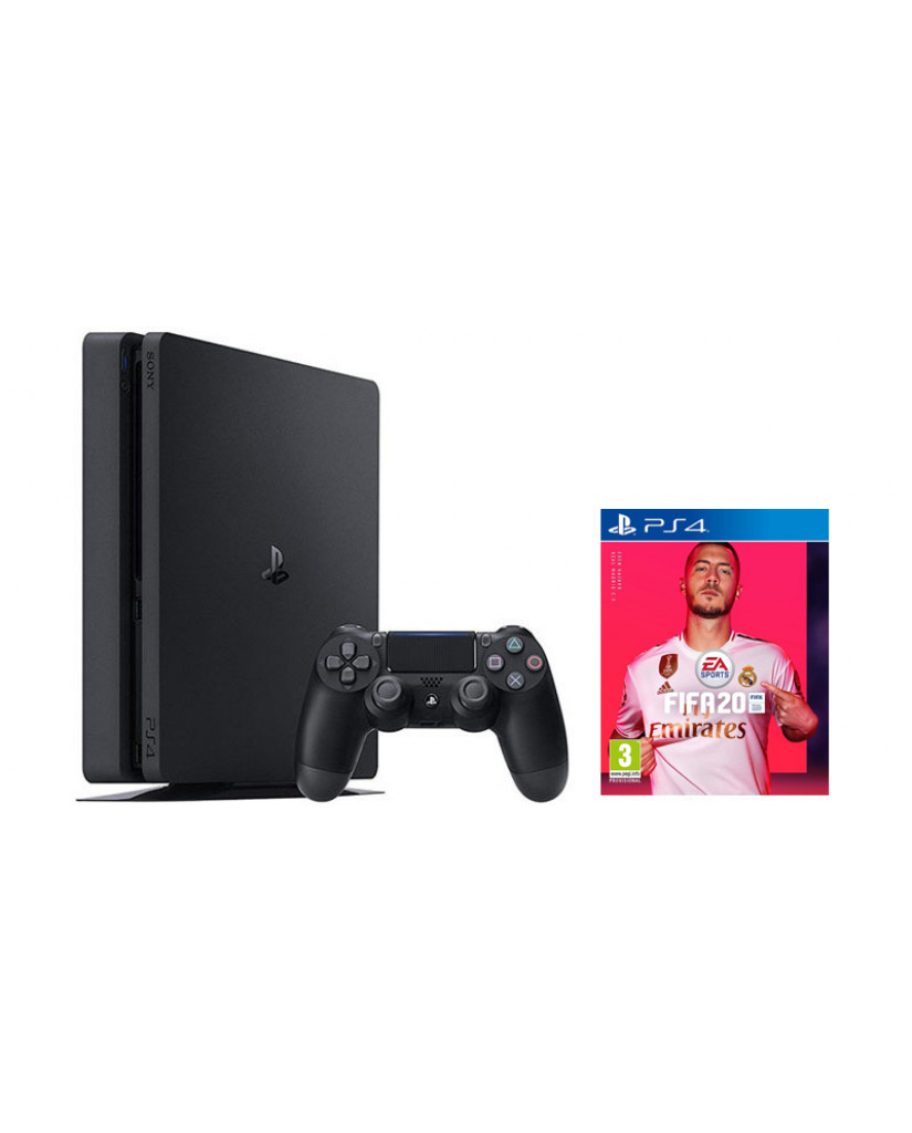 Sony PlayStation 4 - 500GB Slim + Fifa 20 + VOUCHER CODE + Δώρο Playstation Plus 14 Days
