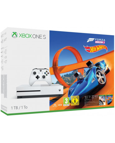 MICROSOFT XBOX ONE S ΚΟΝΣΟΛΑ - 1TB + FORZA HORIZON 3 + HOT WHEELS