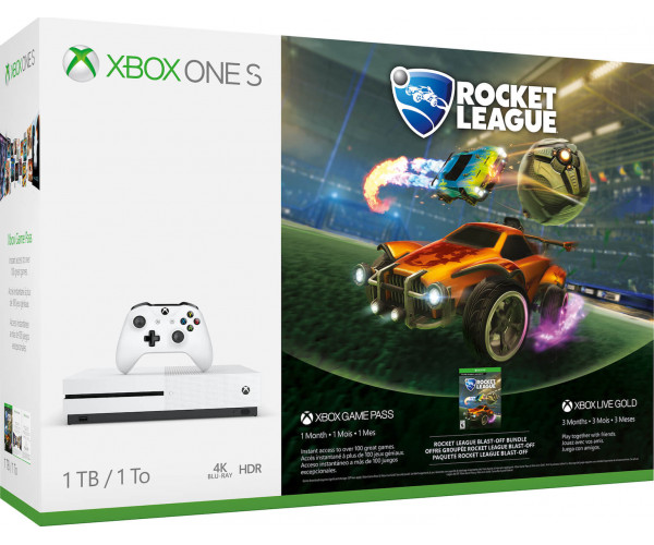 MICROSOFT XBOX ONE S ΚΟΝΣΟΛΑ - 1TB & ROCKET LEAGUE ΠΕΡΙΛΑΜΒΑΝΕΙ 3 MONTH GOLD & 1 MONTH GAME PASS